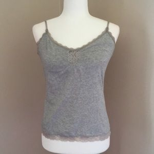 Express gray camisole with bra liner